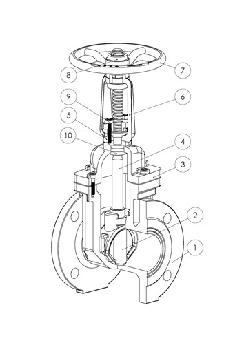 Rapidrop RD116FF OS&Y Gate Valve F4 Series (Flanged) spec