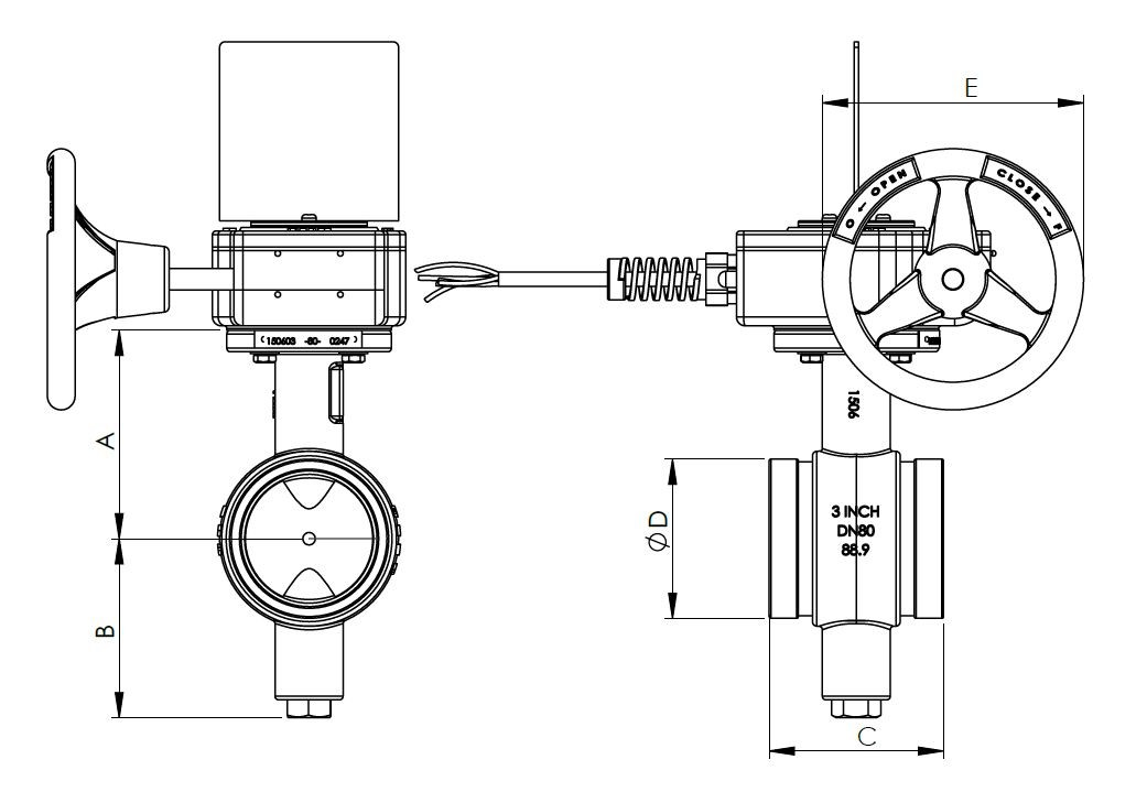 image of erfly valve