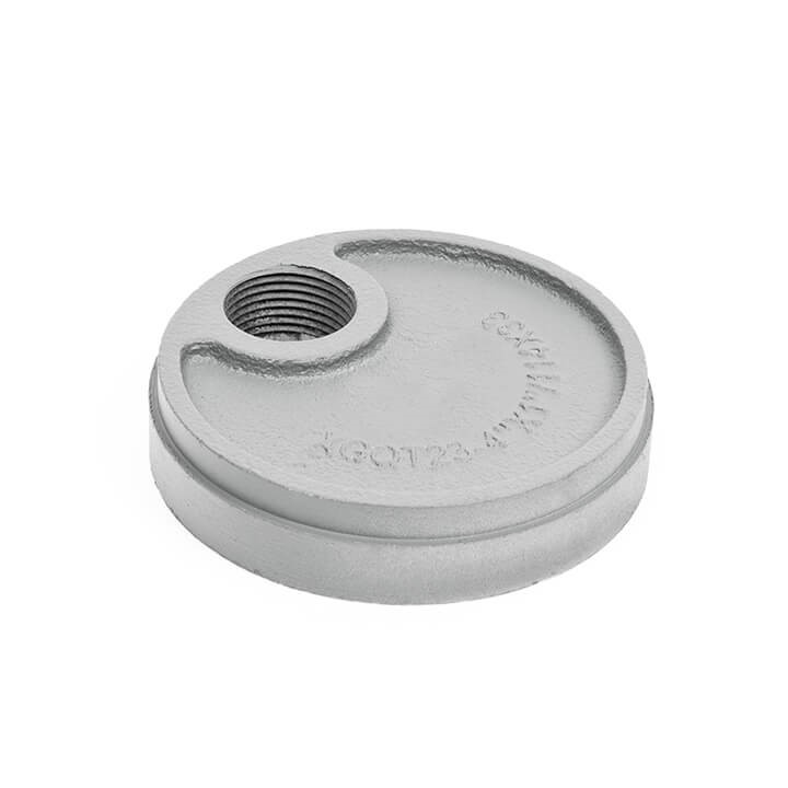 DRG010 Grooved End Cap (eccentric hole)